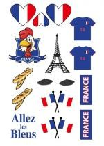 Tatoos Supporter France Assortis