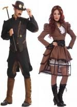 Couple Gentleman et Vicky Steampunk