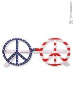 Paire De Lunettes Peace And Love Drapeau Usa