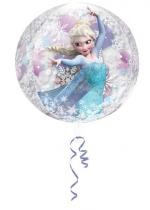 Ballon La Reine Des Neiges Clear Orbz de 38 X 40 Cm