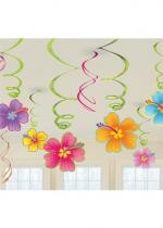 Lot De 12 Suspensions Fleurs