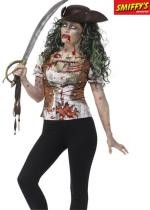 T Shirt Zombie Femme Pirate