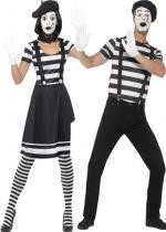 Couple Mime Avec Maquillage