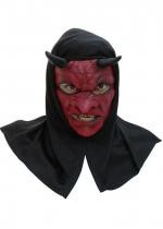 Masque Latex Adulte Diable Avec Capuche