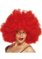 Perruque Super Afro Rouge