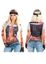 Tee Shirt Photo réaliste Biker Girl