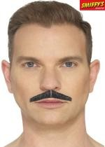 Moustache En Trait De Crayon Noir