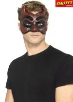Masque De Bal Masqué Diable Rouge Latex