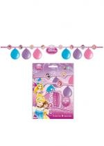 Kit 6 Ballons Princesses Disney Et 1 Guirlande