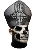 Masque Latex Adulte Luxe Papa Emeritus Ghost
