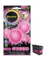 Sachet De 5 Ballons Led Rose
