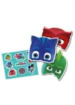 Pack De 6 Masques Pjmasks Et Autocollants
