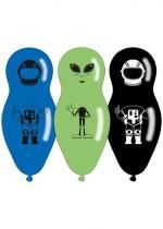 Sachet De 4 Ballons Space Friends