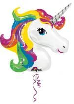 Ballon Foil Supershape Licorne Arc En Ciel