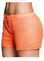 Short Sequins Orange Fluo