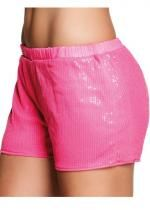 Short Sequins Rose Fluo