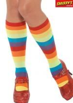 Chaussettes Montantes De Clown Multicolores