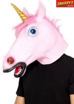 Masque Adulte Complet De Licorne Rose En Latex
