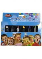 Set 6 Crayons Maquillage Carnaval Rétractables