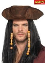Chapeau Adulte De Pirate Marron