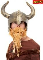 Casque De Viking Or Avec Barbe Blonde