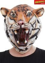 Masque Complet Tigre En Latex Orange Et Noir