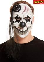 Masque De Clown Effrayant En Latex Blanc