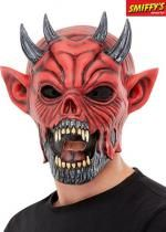Masque De Diable En Latex Rouge