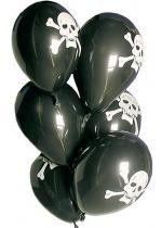 6 Ballons Pirate Noirs