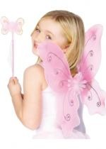 Set Ailes Papillon Rose