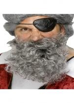 Barbe de Pirate Grise