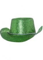 Chapeau Saint Patrick Cow Boy Pailleté