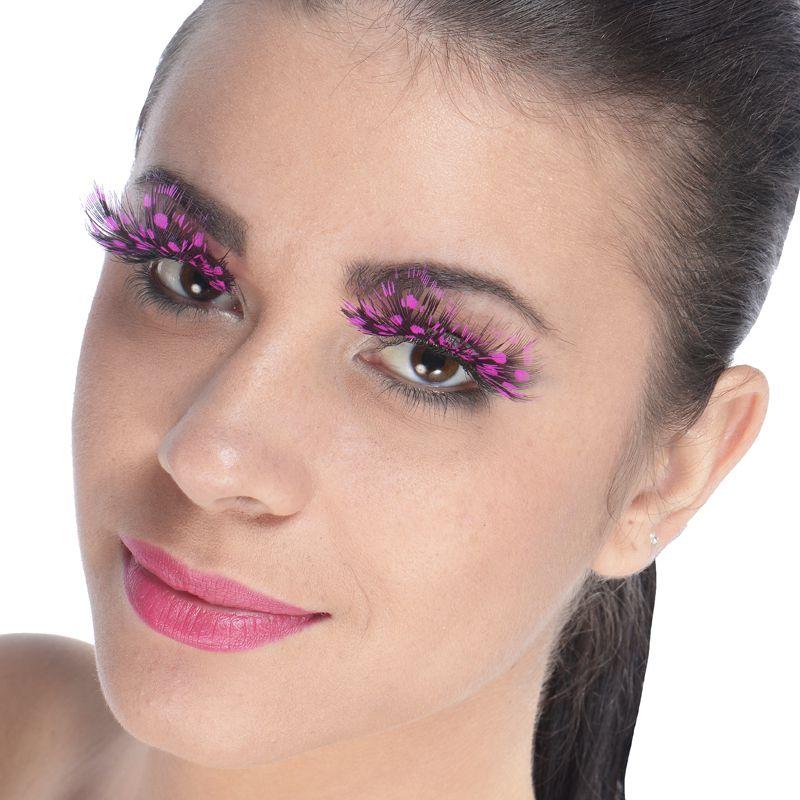 faux cils avec pois roses maquillage faux cils yeux le. Black Bedroom Furniture Sets. Home Design Ideas