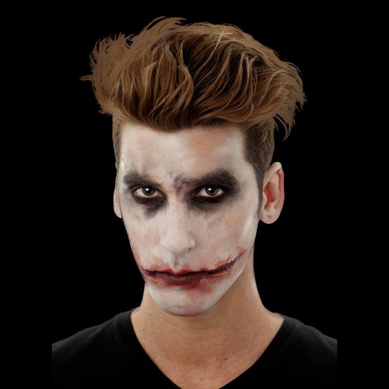Sourire joker ensanglant en latex maquillage proth se effets sp ciaux le - Maquillage halloween homme barbe ...