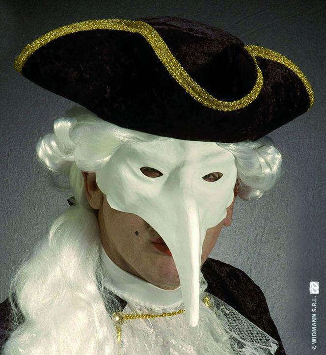 Masque v nitien blanc masques peindre le - Masque de carnaval de venise a imprimer ...