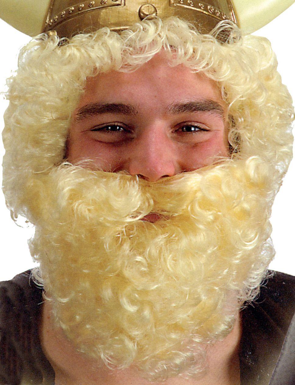 barbe frisée courte grise - maquillage barbes, moustaches le