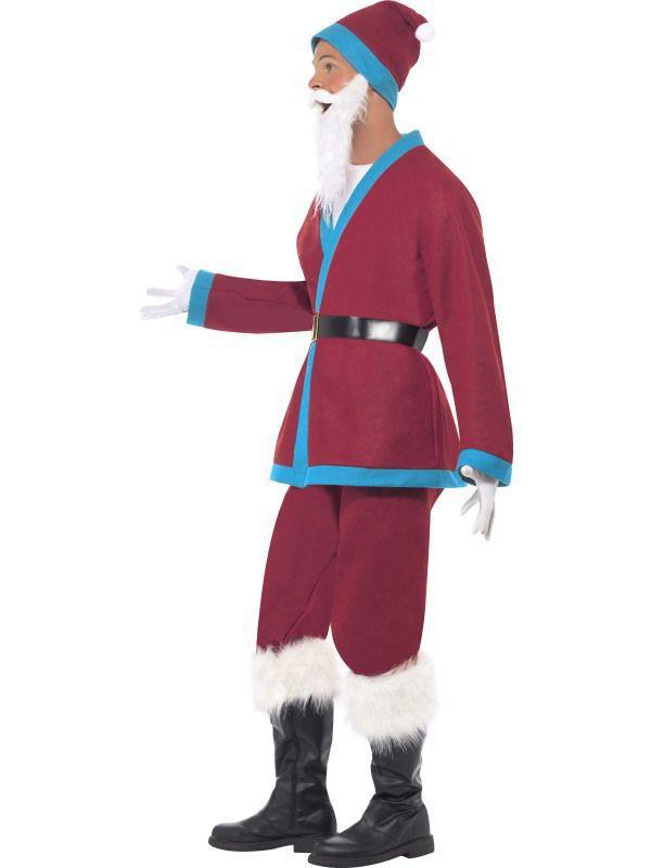 costume p re noel bande bleu d guisement adulte no l le. Black Bedroom Furniture Sets. Home Design Ideas