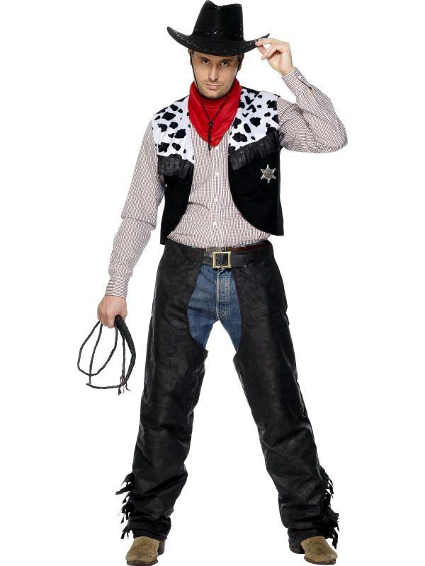 Deguisement cowboy cuir deguisement adulte the wild west homme le - Deguisement western homme ...
