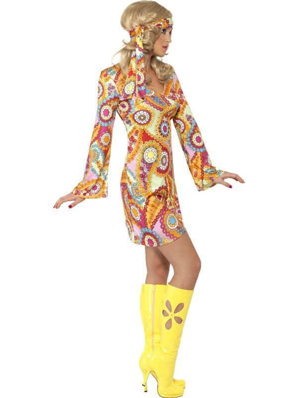 deguisement ann e 60 39 s hippie chic deguisement adulte femme le. Black Bedroom Furniture Sets. Home Design Ideas