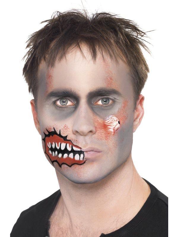 Maquillage de zombie facile sans latex - Maquillage zombie femme facile ...