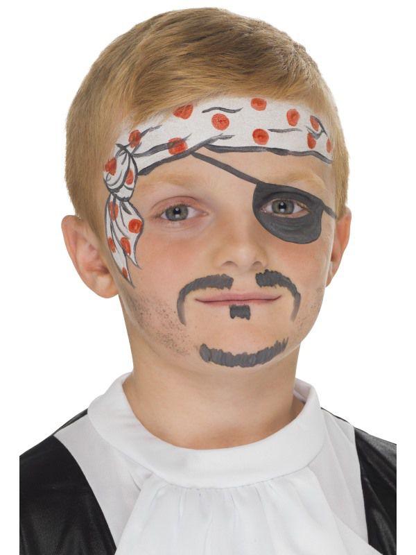 Kit de peinture pirate maquillage kits et palettes visages le - Maquillage deguisement visage ...