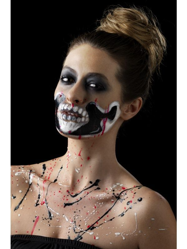 Kit maquillage latex liquide fluo squelette maquillage proth se effets sp ciaux le - Maquillage latex halloween ...