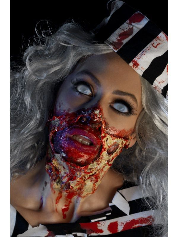 Kit maquillage latex liquide zombie maquillage proth se effets sp ciaux le - Maquillage halloween latex ...