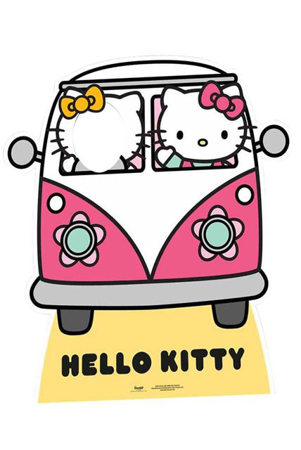 Figurine g ante passe t te en carton hello kitty - Tete hello kitty ...