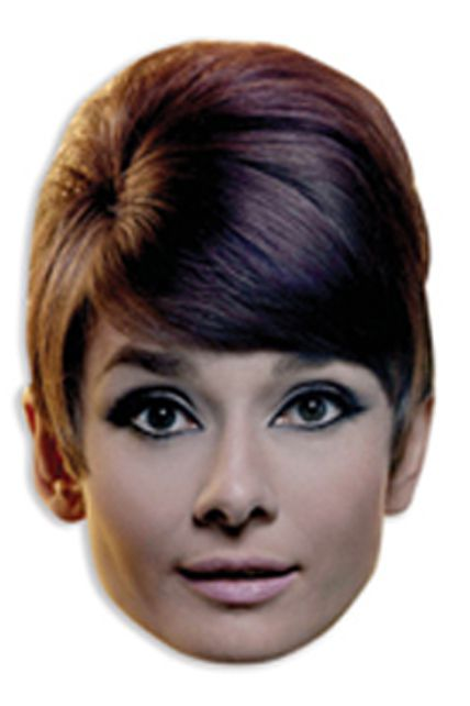 Masque carton adulte audrey hepburn masques - Deguisement audrey hepburn ...