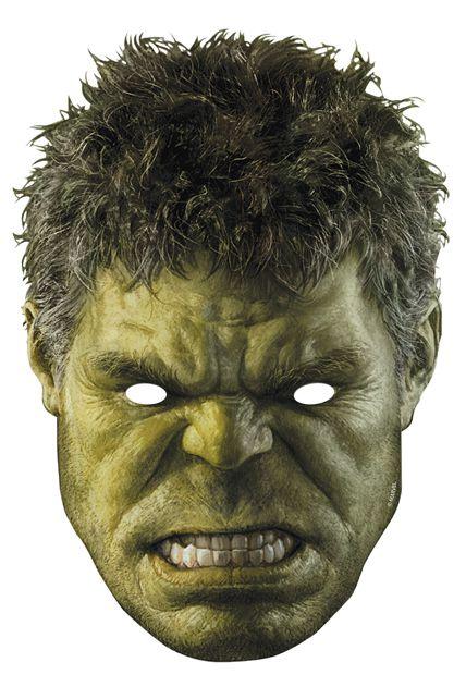 Masque en carton adulte hulk avengers masques adultes le - Hulk a imprimer ...