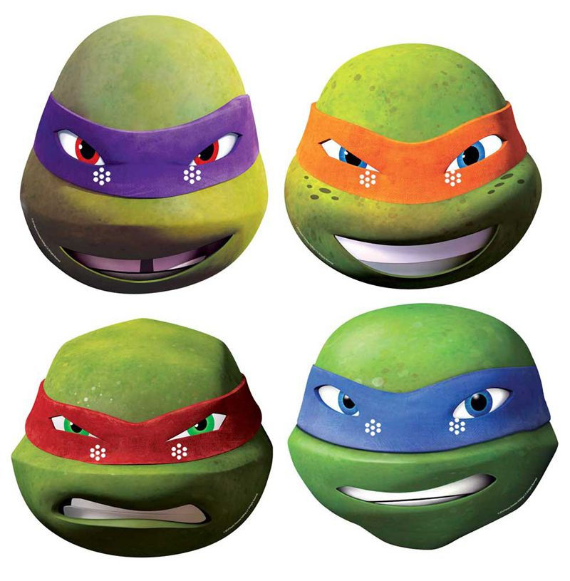 Masque carton adulte donatello tortue ninja masques - Tortues ninja donatello ...