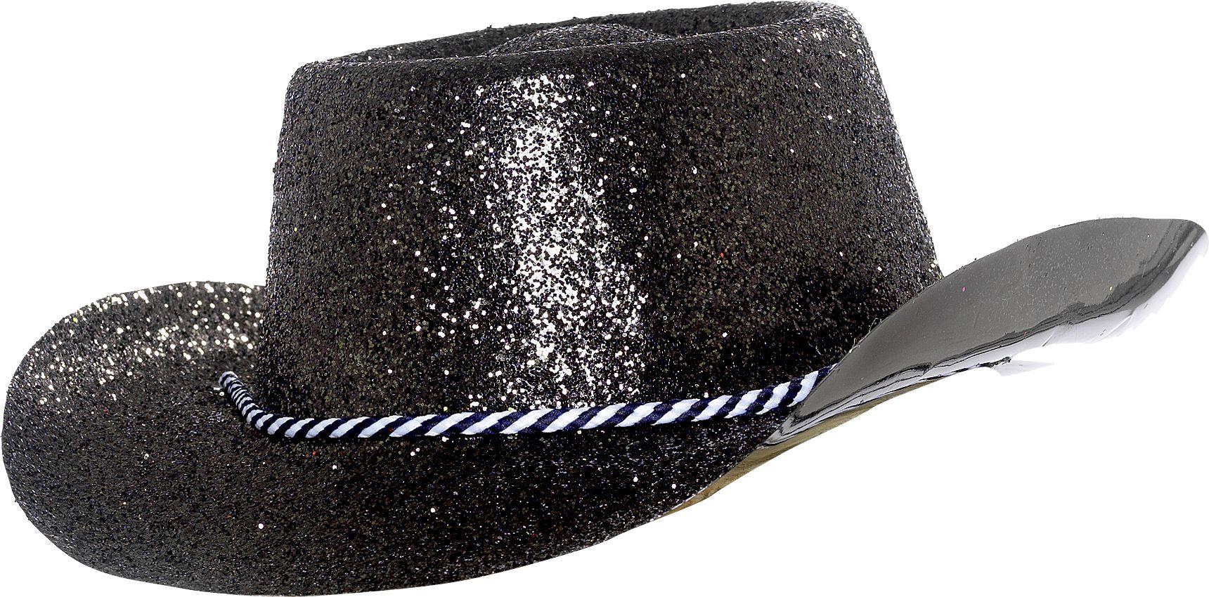 chapeau plastique cowboy paillette argent le. Black Bedroom Furniture Sets. Home Design Ideas