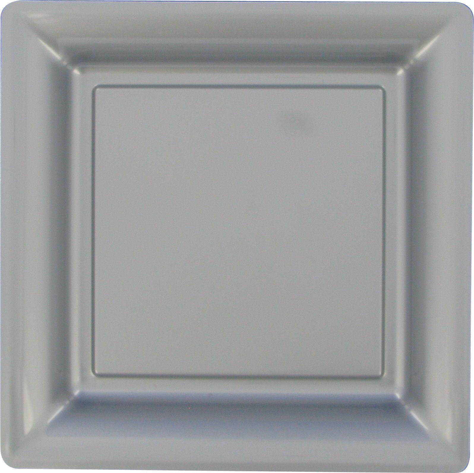 assiettes carr es articles de f te vaisselles jetables le. Black Bedroom Furniture Sets. Home Design Ideas