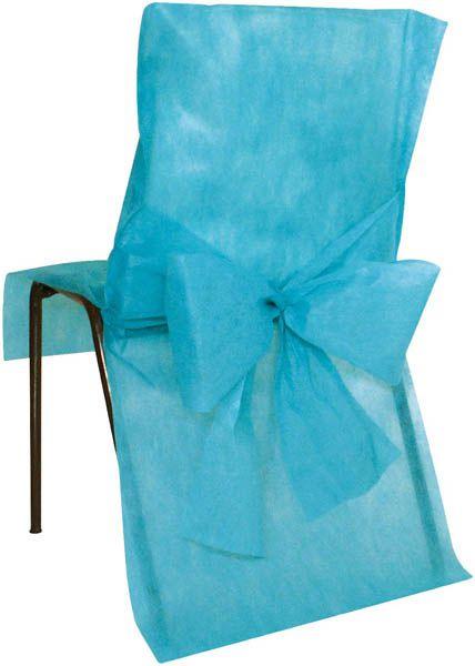 sachet de 10 housses de chaise non tisse avec noeud ivoire le. Black Bedroom Furniture Sets. Home Design Ideas